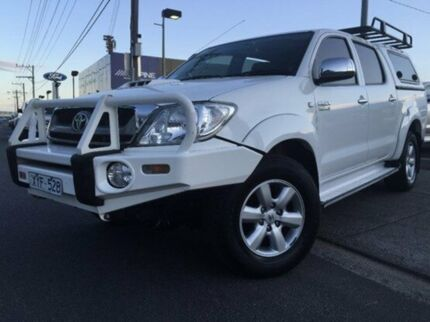 2010 Toyota Hilux KUN26R MY10 SR5 White 4 Speed Automatic Utility Dandenong Greater Dandenong Preview