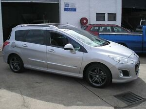 2013 Peugeot 308 T7 MY13 Sportium Silver Auto Sports Mode Wagon Woodbine Campbelltown Area Preview