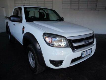 2010 Ford Ranger PK XL Super Cab Cool White 5 Speed Manual Utility Derwent Park Glenorchy Area Preview