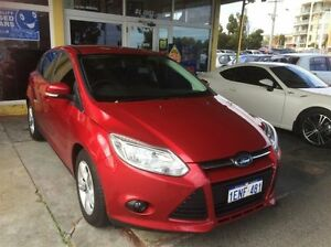 2014 Ford Focus LW MK2 MY14 Trend Burgundy 6 Speed Automatic Hatchback South Fremantle Fremantle Area Preview