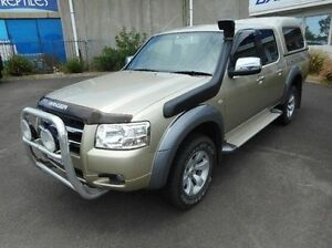 2008 Ford Ranger PJ XLT Crew Cab Gold 5 Speed Manual Utility Bundoora Banyule Area Preview
