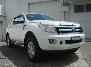 2013 Ford Ranger PX XLT Double Cab White 6 Speed Manual Utility Bundoora Banyule Area Preview