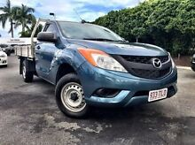 2013 Mazda BT-50 UP0YD1 XT 4x2 Blue 6 Speed Manual Cab Chassis Mackay 4740 Mackay City Preview