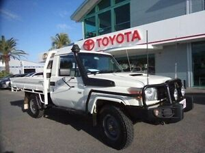 2009 Toyota Landcruiser VDJ79R MY10 Workmate White 5 Speed Manual Cab Chassis Rockhampton Rockhampton City Preview