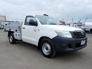 2013 Toyota Hilux White Manual Cab Chassis Pakenham Cardinia Area Preview