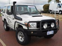 2008 Toyota Landcruiser VDJ76R Workmate White 5 Speed Manual Wagon Spearwood Cockburn Area Preview