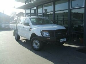 2013 Ford Ranger PX XL Double Cab White 6 Speed Manual Cab Chassis Invermay Launceston Area Preview
