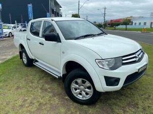 2013 Mitsubishi Triton MN MY13 GLX (4x4) White 4 Speed Automatic 4x4 Double Cab Utility Dapto Wollongong Area Preview