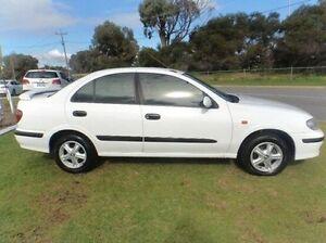 2002 Nissan Pulsar N16 LX Plus White 5 Speed Manual Sedan Silver Sands Mandurah Area Preview