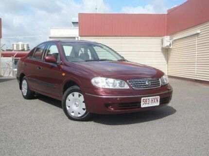 2004 Nissan Pulsar N16 MY2004 ST Maroon 5 Speed Manual Sedan Gladstone Gladstone City Preview
