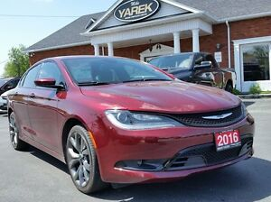 2016 Chrysler 200S Leather Heated Seats, Back Up Cam, Remote Sta