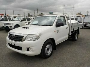 2012 Toyota Hilux White Manual Cab Chassis Pakenham Cardinia Area Preview