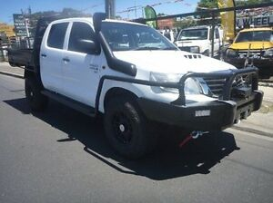 2012 Toyota Hilux KUN26R MY12 SR Double Cab White 5 Speed Manual Cab Chassis Fawkner Moreland Area Preview