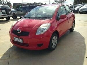 2007 Toyota Yaris NCP90R YR Cherry 5 Speed Manual Hatchback Melton Melton Area Preview