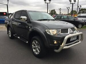 2010 Mitsubishi Triton MN MY11 GLX-R Double Cab Grey 5 Speed Sports Automatic Utility Heidelberg Heights Banyule Area Preview
