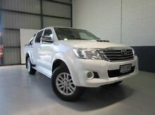 2013 Toyota Hilux KUN26R MY12 SR5 Double Cab White 5 Speed Manual Utility Windsor Gardens Port Adelaide Area Preview