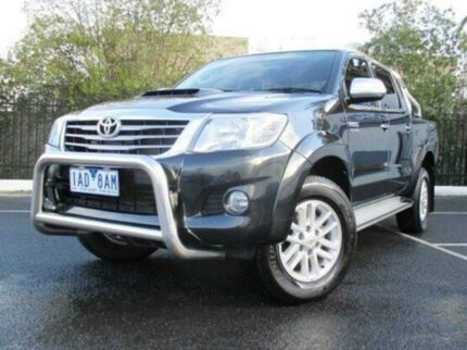 2013 Toyota Hilux KUN26R MY14 SR5 Double Cab Black 5 Speed Automatic Utility Coburg North Moreland Area Preview