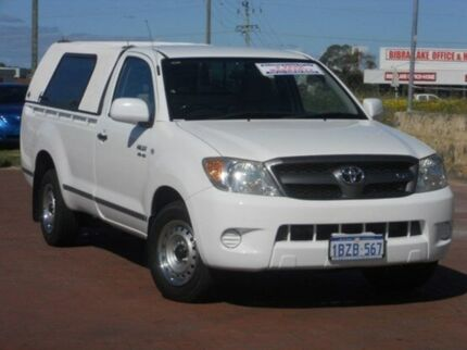 2005 Toyota Hilux GGN15R MY05 SR White 5 Speed Automatic Utility Spearwood Cockburn Area Preview