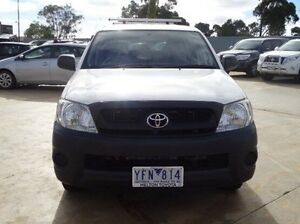 2010 Toyota Hilux TGN16R MY11 Upgrade Workmate Glacier White 4 Speed Automatic Dual Cab Pick-up Melton Melton Area Preview