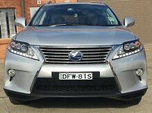 2013 Lexus RX450H GYL15R Sports Luxury Silver 6 Speed Constant Variable Wagon Kings Park Blacktown Area Preview