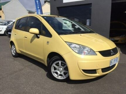 2007 Mitsubishi Colt RG MY07 ES Yellow 5 Speed Manual Hatchback Launceston 7250 Launceston Area Preview