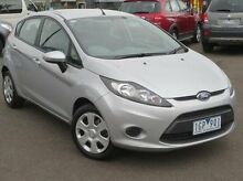 2012 Ford Fiesta WT CL PwrShift Silver 6 Speed Sports Automatic Dual Clutch Hatchback Coolaroo Hume Area Preview