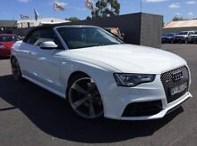 2013 Audi RS5 8T MY14 S tronic quattro White 7 Speed Sports Automatic Dual Clutch Cabriolet Heidelberg Heights Banyule Area Preview