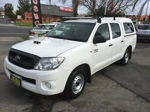 2011 Toyota Hilux KUN16R MY10 SR White 5 Speed Manual Utility Wodonga Wodonga Area Preview