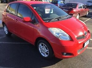 2008 Toyota Yaris NCP90R MY09 YR Red 5 Speed Manual Hatchback Invermay Launceston Area Preview