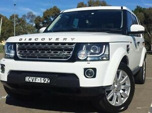 2014 Land Rover Discovery Series 4 L319 MY15 TDV6 White 8 Speed Sports Automatic Wagon Kings Park Blacktown Area Preview