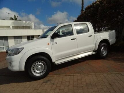 2013 Toyota Hilux KUN26R MY14 SR Double Cab White 5 Speed Automatic Utility Kirrawee Sutherland Area Preview