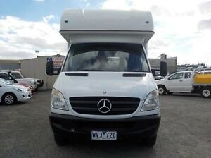 2008 Mercedes-Benz Sprinter White Automatic Cab Chassis