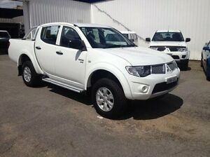2012 Mitsubishi Triton MN MY12 GL-R Double Cab White 5 Speed Manual Utility Wodonga Wodonga Area Preview