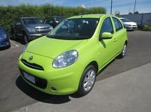 2013 Nissan Micra K13 MY13 ST-L Green 4 Speed Automatic Hatchback Coolaroo Hume Area Preview