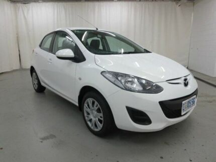 2012 Mazda 2 DE10Y2 MY12 Neo Crystal White Pearl 4 Speed Automatic Hatchback Glebe Hobart City Preview