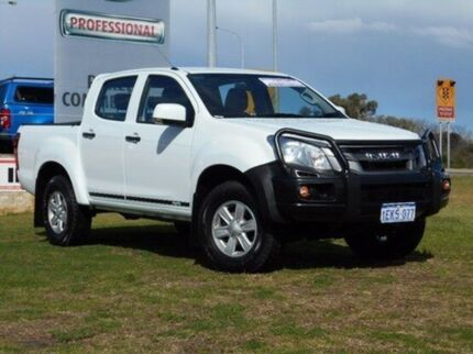 2014 Isuzu D-MAX MY14 SX Crew Cab High Ride White 5 Speed Sports Automatic Utility