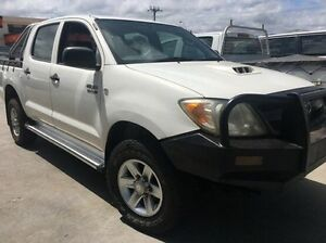 2008 Toyota Hilux KUN26R MY09 SR White 5 Speed Manual Cab Chassis Invermay Launceston Area Preview