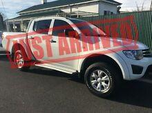 2014 Mitsubishi Triton MN MY15 GLX Double Cab White 5 Speed Manual Utility Derwent Park Glenorchy Area Preview