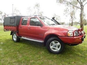 2003 Nissan Navara D22 MY2003 ST-R Red 5 Speed Manual Utility Doveton Casey Area Preview