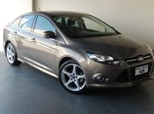 2012 Ford Focus LW MKII Titanium PwrShift Brown 6 Speed Sports Automatic Dual Clutch Sedan Mount Gambier Grant Area Preview