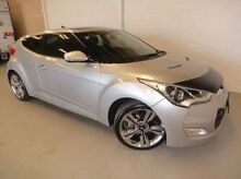 2012 Hyundai Veloster FS + Coupe D-CT Silver 6 Speed Sports Automatic Dual Clutch Hatchback Silver Sands Mandurah Area Preview