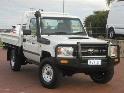 2012 Toyota Landcruiser VDJ79R MY10 Workmate White 5 Speed Manual Cab Chassis Spearwood Cockburn Area Preview
