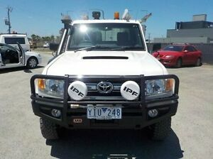 2010 Toyota Landcruiser White Manual Cab Chassis Pakenham Cardinia Area Preview