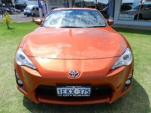 2013 Toyota 86 ZN6 GT Orange 6 Speed Manual Coupe Victoria Park Victoria Park Area Preview