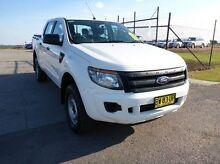 2013 Ford Ranger PX XL Double Cab White 6 Speed Sports Automatic Utility Singleton Singleton Area Preview