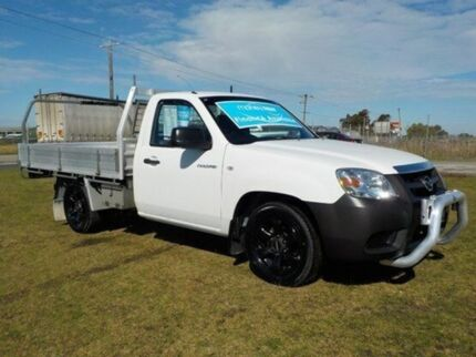2010 Mazda BT-50 B2500 Boss DX Cool White 5 Speed Manual Cab Chassis Pakenham Cardinia Area Preview
