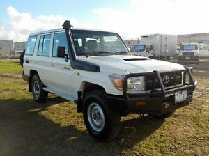 2012 Toyota Landcruiser  White Manual Wagon Pakenham Cardinia Area Preview