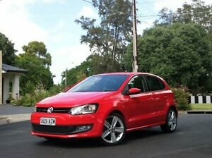 2012 Volkswagen Polo 6R MY12.5 77TSI DSG Comfortline Red 7 Speed Sports Automatic Dual Clutch Medindie Gardens Prospect Area Preview