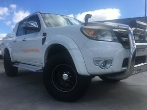 2009 Ford Ranger PK Wildtrak Crew Cab White 5 Speed Manual Utility Invermay Launceston Area Preview