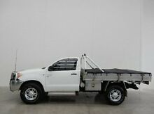 2006 Toyota Hilux GGN25R MY05 SR White 5 Speed Manual Cab Chassis Braeside Kingston Area Preview